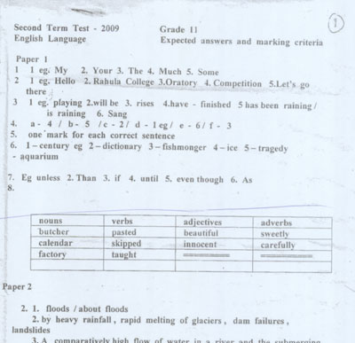 Errors galore in term test papers