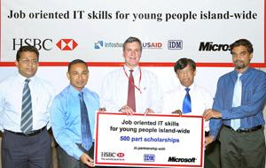 HSBC, Microsoft to provide job oriented IT skills to Lankan youth