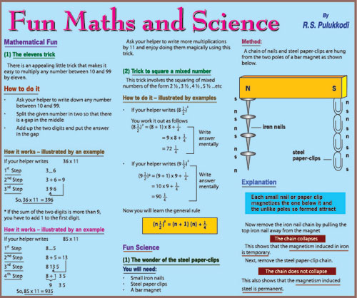 Funday times maths science fun maths and science