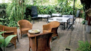Garden relaxation at Havelock Bungalow