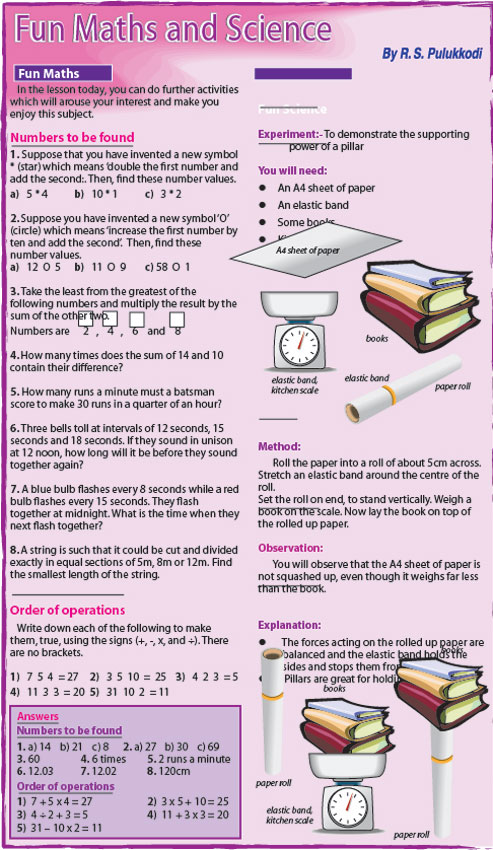 Fun Maths and Science