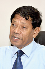 Chairman of the Sugathadasa Sports Complex, Brigadier Priyantha Samaratunga. - Pic by Amila Prabodha