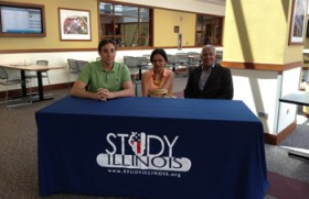 Scholarships Team welcomed by Study Illinois