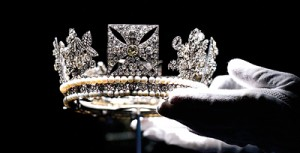 Sparkling: The Diamond Diadem Tiara, worn by The Queen on British and Commonwealth stamps, which also features on some issues of coinage and bank notes