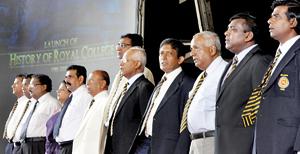 Royal College Principal Upali Gunasekara, Lalith Weeratunge and others present at the event. Pic by Indika Handuwala