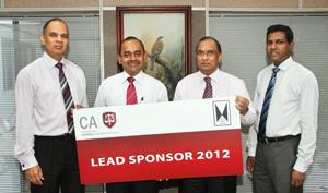 Mr. Arjuna Herath, Vice President - CA Sri Lanka; Mr. Sujeewa Rajapakse, President - CA Sri Lanka; Mr. Ronnie Peiris, Group Finance Director - JKH; and Mr. Aruna Alwis, Secretary/CEO - CA Sri Lanka