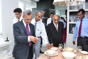 Picture shows top  directors  at the showroom.