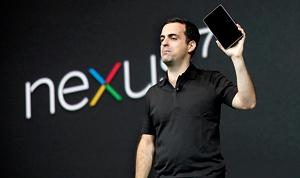 Hugo Barra, director of product management of Google, unveils Nexus 7 tablet during Google in San Fransisco (REUTERS)