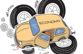 Declining economic growth, rising Inflation and widening trade and fiscal deficits