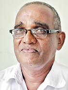 The artist S.K. Kariyawasam