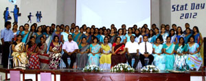 Lecturers of Department of Statisticsand members of the Stat Circle, University of Colombo
