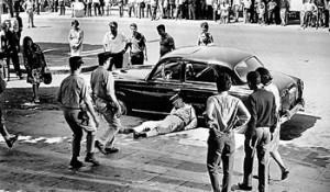 A scene from the movie The Battle of Algiers (1966, Gillo Pontecorvo) - French-Algerian