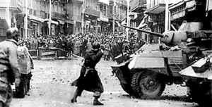 Algerians protesting against French colonialists
