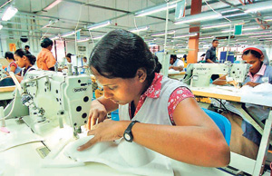 File pic of garment workers