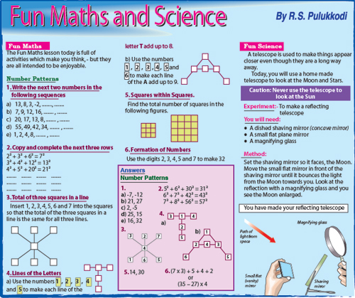 Fun Maths and Science | The Sundaytimes Sri Lanka