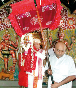 The Kap ceremony at Dedimunda Devale