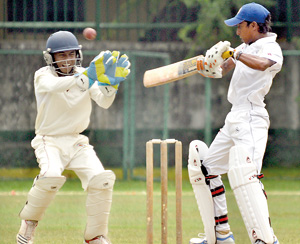 Ragama CC batsman Eranga Ratnayake in their match against Moors at Havelock Park yesterday.