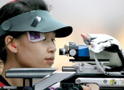 China's Yi bags air rifle title for Games' first gold