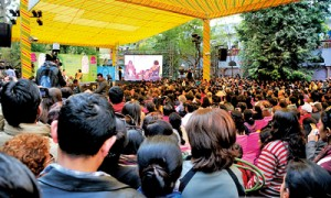 An entirely democratic festival: The audience at Oprah Winfrey's session at Jaipur 2012. Pic by Aamina Nizar