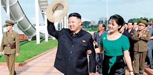 North Korean leader Kim Jong-Un and his wife Ri Sol-Ju attend the opening ceremony of the Rungna People's Pleasure Ground  (REUTERS)