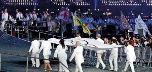 The VIP group included Doreen Lawrence, Ban Ki-moon, the UN secretary general and Ethiopian athletics veteran Haile Gebrselassie. Reuters.