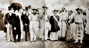 Representing Ceylon: E.R. Gooneratne, fourth from right, at the Buckingham Palace garden party for Queen Victoria's Diamond Jubilee