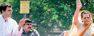 Rahul (left) and Sonia: India already treats the Nehru-Gandhi family like royalty