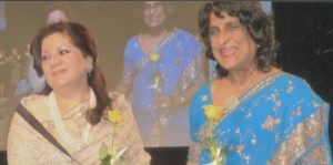 A Zonta leader: Dr. Marlene Abeywardene (right) at the Zonta International Convention in Torino