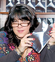 Author  E L James with her record- breaking book