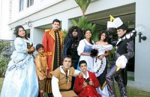 The main cast: Ready for  the challenge. Pix by Indika Handuwala