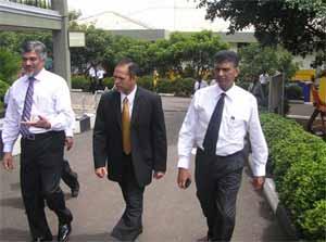 Hon. Deputy Minister Muhammad Hizbullah with Capt. Ajith Peiris – Group Managing Director & Dr. (Capt.) Nalaka Jayakody – Director Administration and Development touring the campus.