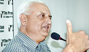 Mr. Dixit addressing the gathering. Pic by Hasitha Kulasekera