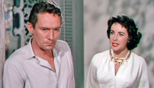 Second choice: The young Elizabeth Taylor with  Peter Finch in Elephant Walk