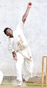 Narada Ratnayake of Moors in action. - Pix by Ranjith Perera