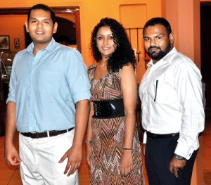 Gayan,  Shamindri and Gary: Happy with what they have become