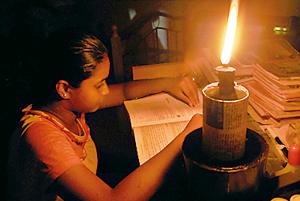 Night studies by candlelight.  Photo: Hasitha Kulasekera