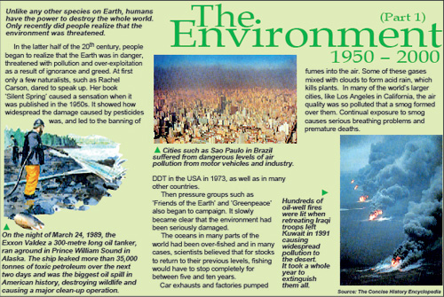 The Environment 1950 – 2000