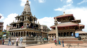 The Hanuman-dhoka Durbar Square: A complex of beautiful temples with both Hindu and Buddhist elements