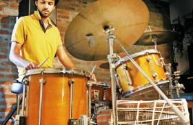 Drumming his own kind of beat