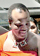 King of Swaziland during his visit here.  Pic by Susantha Liyanawatte