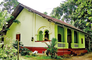 The house that Madhu Pushpika lived in before she fled the  country. Pix by Athula Devapriya