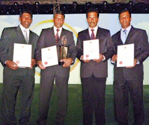 Picture shows winning team representing Aitken Spence Hotels.