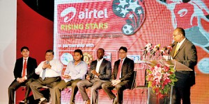 The distinguished invitees of the Airtel Rising Stars programme launch. Pic by Amila Gamage.