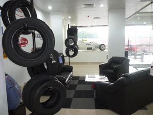 Picture shows an interior view of the showroom