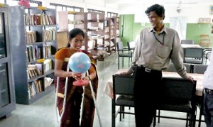 Jaffna school library: The issue of teacher  librarians islandwide still in limbo. (file pic)