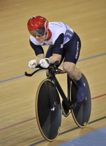 Britain's Jody Cundy competes in the Men's Individual C4 Pursuit qualifying during the London 2012 Paralympic Games at the Olympic Park in east London on September 1, 2012. AFP