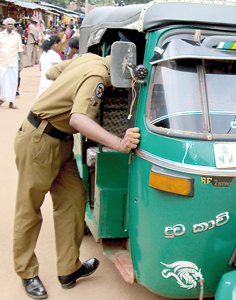 Saturday morning: Initially police were checking whether animals were being brought to the kovil