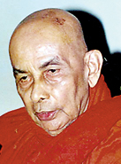 Most Venerable Madihe Pannasiha  Mahanayaka Thera