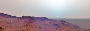 Martian Sunset in 2005, taken by Spirit