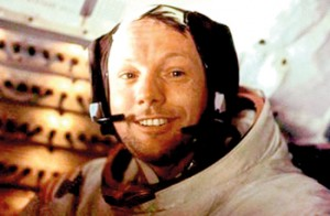 Neil Armstrong was all smiles after spending more than two hours on the moons  surface in 1969 (AFP)